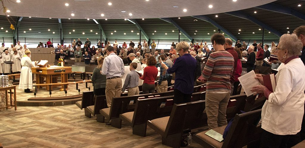 Photo of church worship service