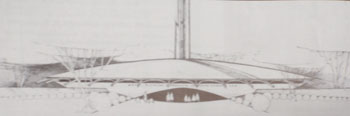 Sketch of church building from outside